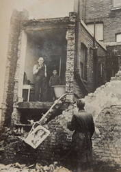 Faraday Street, (Southwark), Gas Explosion at Mr Crofts House 1947.  1  X.png