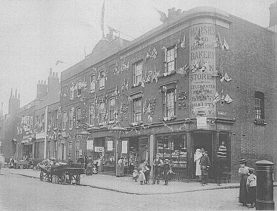 Corner of Long Lane & Stables St, 1900..jpg