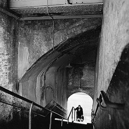 Stairs to London Bridge Station, 1960-1972..jpg