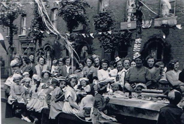 The Queen's Coronation a Street Party in Reverdy Road Bermondsey in 1953.jpg