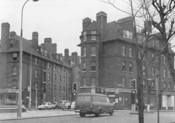 Abbey Buildings from Tower Bridge Road Bermondsey in 1976.jpg