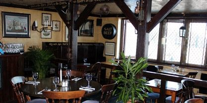The Mayflower Pub   Rotherhithe Street,  Originally The Mayflower Pub,  now a Gastropub  They will provide blankets and hot water bottles for cool evenings.  2013.jpg