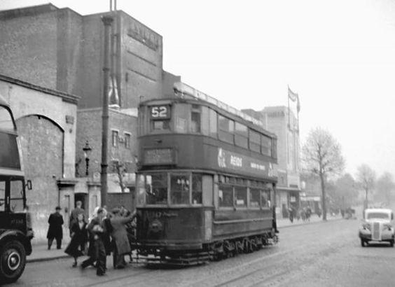 The 52 Tram outside the Astoria Cinema in Old Kent Road.jpg