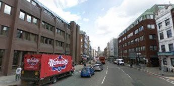 Borough High Street looking north from St George the Martyr Church c 2009.jpg