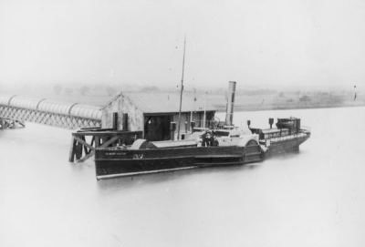 Albert Victor Smallpox ship,  Ambulance Steamer c.1883. South Wharf.jpg