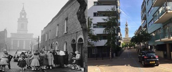 Left Frean Street, with Tommy Steal in 1957 and Photo Right Frean Street in September 2017.jpg