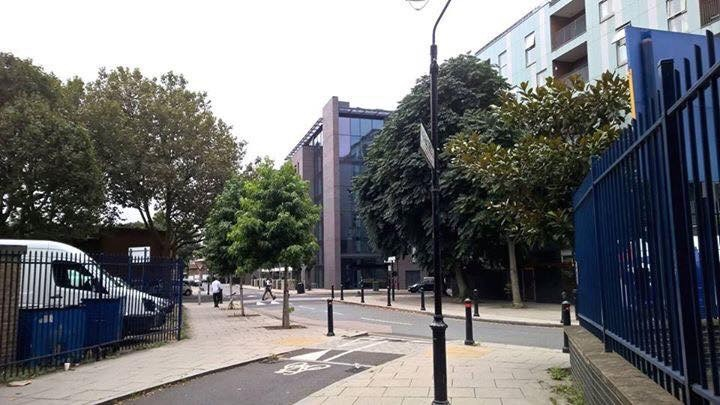 Where Pearce Duff's Custard Factory was in Spa Road Bermondsey South East London England in 2016 Picture from Marine Street. X.jpg