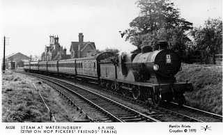 The rear of the station in background across the river Medway is where I plated football for Wateringbury..jpg
