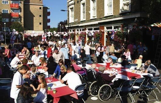 A Party at Queen Victoria on Southwark Park Road - The Blue - Bermondsey for the Queen's 60 Years in Service in June 2012..jpg