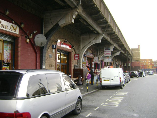 Elephant Road, beneath Elephant & Castle railway station, looking towards New Kent Road c 2012  X.jpg
