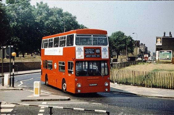 188 London Bus going to Surrey Quays through Rotherhithe in 1980  X.jpg