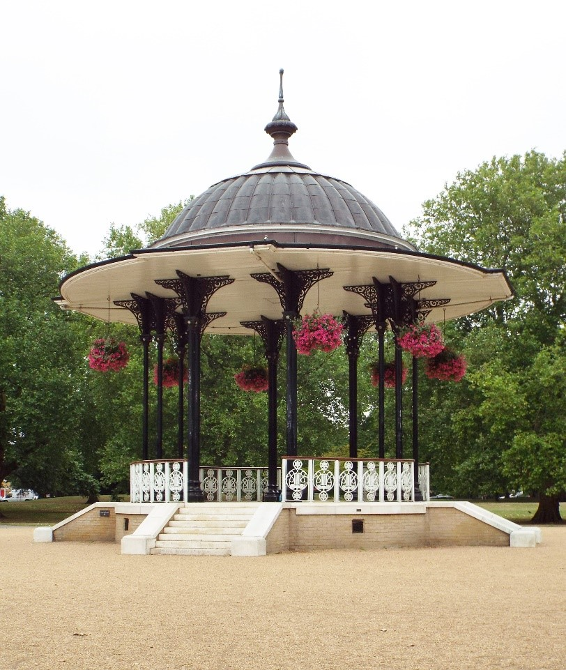 Southwark Park Bandstand c 2011. Some changes but still looks good..jpg