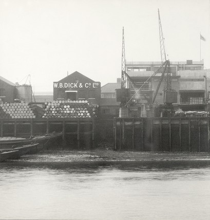 Lavender Wharf,you can see the warehouse of W.B. Dick & Co. Ltd. 1937.jpg