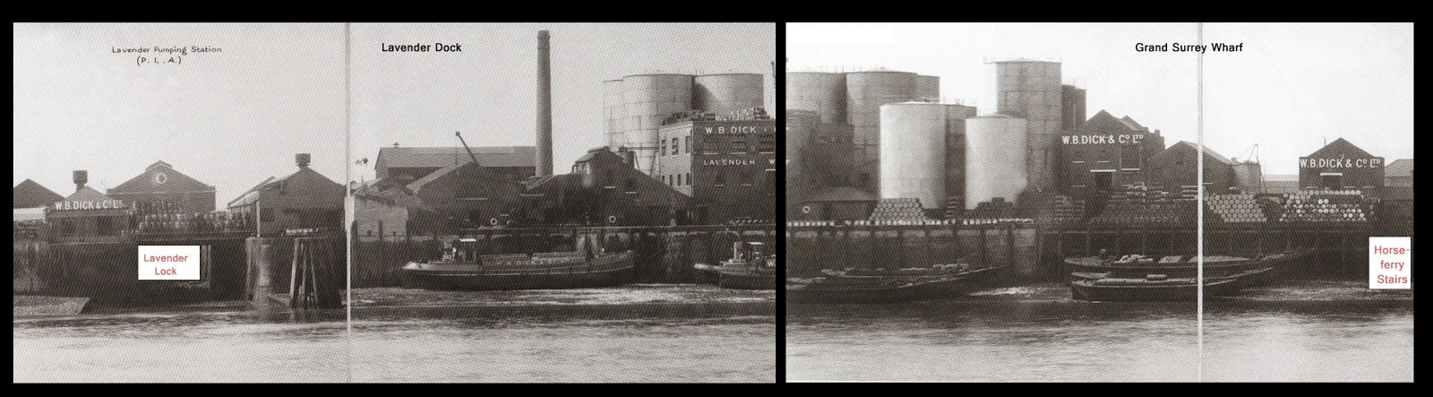 Lavender Wharf in 1937, when it was the premises of W.B. Dick and Co.jpg