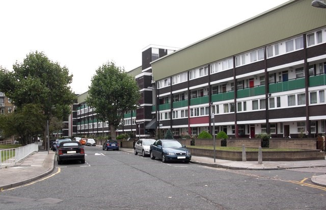 St Helena Road (part), Rotherhithe, (2016) did at one time extend to Silwood Street.jpg