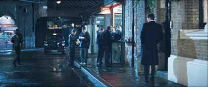 Film Bridget Jones Edge of Reason, 2004.Colin Firth on Bedale Street, heading west next to Zellweger's door..jpg