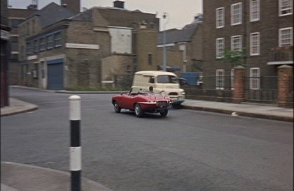 Film Dont Raise the Bridge, Lower the River 1968 Driving along George Row passing 'Brownlow House', George overshoots Jacob Street on the left. Stops, reverses and takes the left turn..jpg