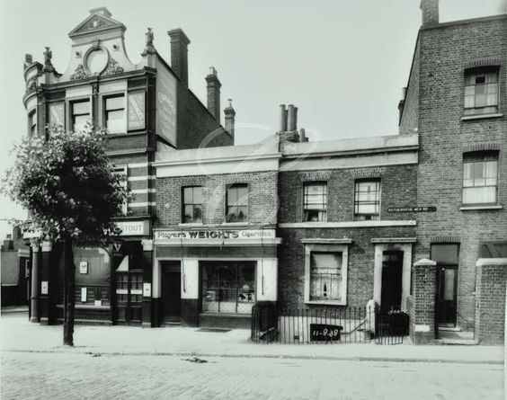 Rotherhithe New Road, numbers 32-28,1938. Crystal Tavern Pub number 32.  X.jpg