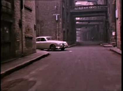 Film Clegg, another car appears, Shad Thames at the junction with Curlew Street..jpg