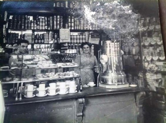 Deacon Street, a rare picture taken inside the shop of Alf and his wife.....jpg