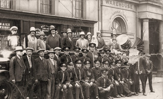 Gas Works Band, Old Kent Road,c1925.Picture taken in Greenwich.jpg