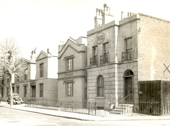 Falmouth Road, Borough, Southwark, 1956 These properties on Falmouth Road date from 1830..jpg