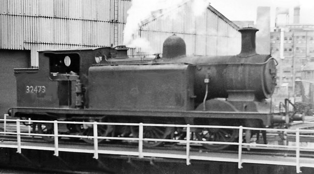 Bricklayer's Arms Depot 32473 in 1962. Here it is on the turntable at Bricklayer's Arms Depot in 1959..jpg