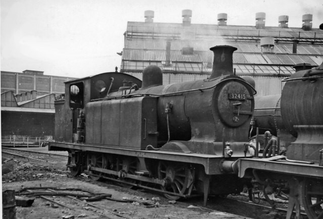 Bricklayer's Arms, 32415 built 101905 as No. 415, withdrawn 961. Most of the E6s worked from Bricklayer's Arms, on shunting and trip work.jpg