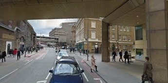 Tooley Street (2016) Emblem House, dark brown building sticking out on far right..jpg