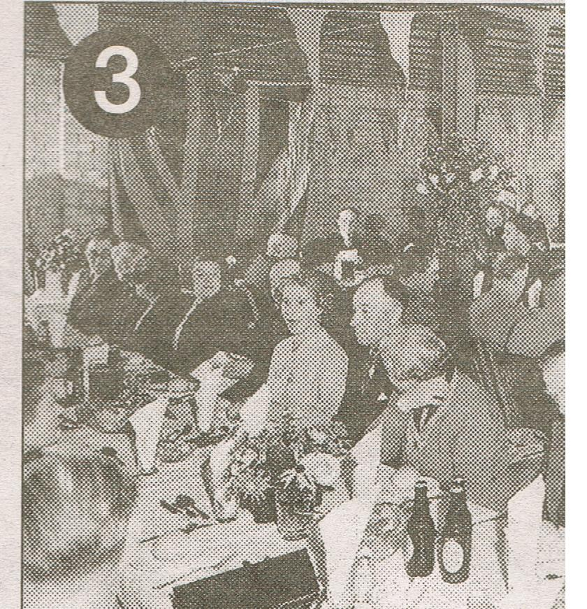 Beltring Hop Farm,the interior of bell five is pictured in 1956 as hop pickers celebrated the end of the season with a harvest supper.jpg