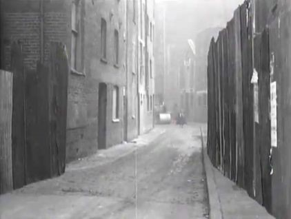 Film One Wish Too Many 1956 Rotherhithe Street, on Rotherhithe Street SE16 with Princes Mills in the right of centre distance and Matthew's Wharf to the left..jpg