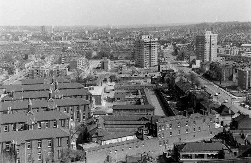 New Cross Road, ,New Cross Hospital, left, Lewisham in the distance 1969..jpg