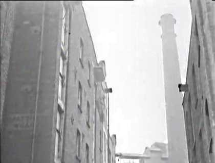 Film One Wish Too Many. The chimney of Princes Mills Rotherhithe Street..jpg