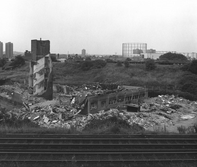 Zampa Road, Bermondsey,1979.The site of the new Millwall Football Stadium.  X.jpg