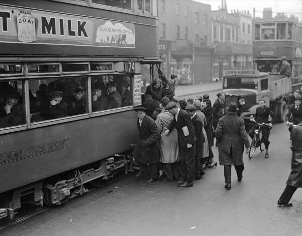 Old Kent Road 1937, people boarding a tram X.jpg