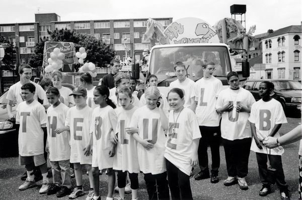 Bermondsey Square. Kids from the Blue, Bermondsey Carnival, Southwark, June 2000.  X.jpg