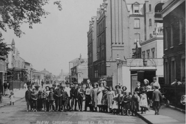New Church Road, Camberwell,Evelina Mansions c1898  X.jpg