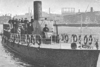 River Emergency Service 1939-41. The steamer Cliveden which was converted into an ambulance ship, seen here moored at Cherry Garden Pier..jpg
