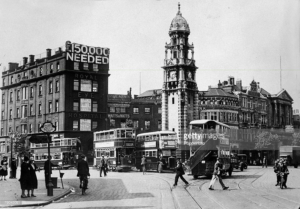 St George's Circus in 1930 showing the corner of Blackfriars Road and Waterloo Road.jpg