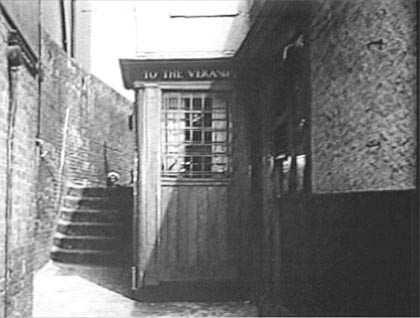 Film The Limping Man 1953,Rotherhithe Street, Church Stairs at the side of The Spread Eagle and Crown, Rotherhithe X.jpg