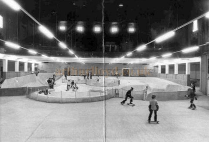 Old Kent Road. The former Astoria Cinema, whilst in the guise of the Mad Dog Bowl skating park and Squash Courts in May 1978..jpg