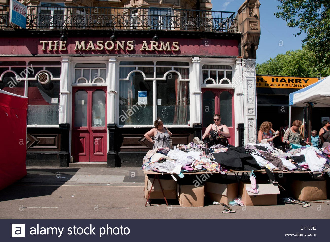 East Street, Second hand clothes stall in East Lane market c2016..jpg