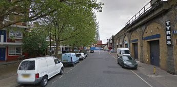 Enid street 2012, no big building at the end, in Abbey Street. X.jpg
