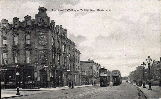 Old Kent Road, early1900s. This part of OKR was known as Sussex Place in the 1860s.Bowles Rd on the left..jpg