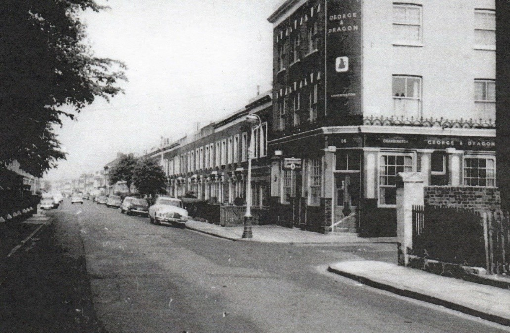 The George and Dragon Pub on the corner of St Georges Way, was called St Georges Road..jpg