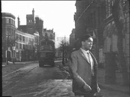 Film Pool of London, 1951, Tooley Street with Vine Lane behind right, heading towards Tower Bridge Road. I think that is Shand Street on the left..jpg