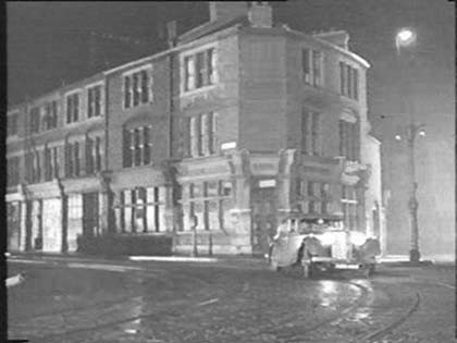 Film Pool of London Jamaica Road, Midland Bank on corner of Paradise St, Rotherhithe. 1951..jpg