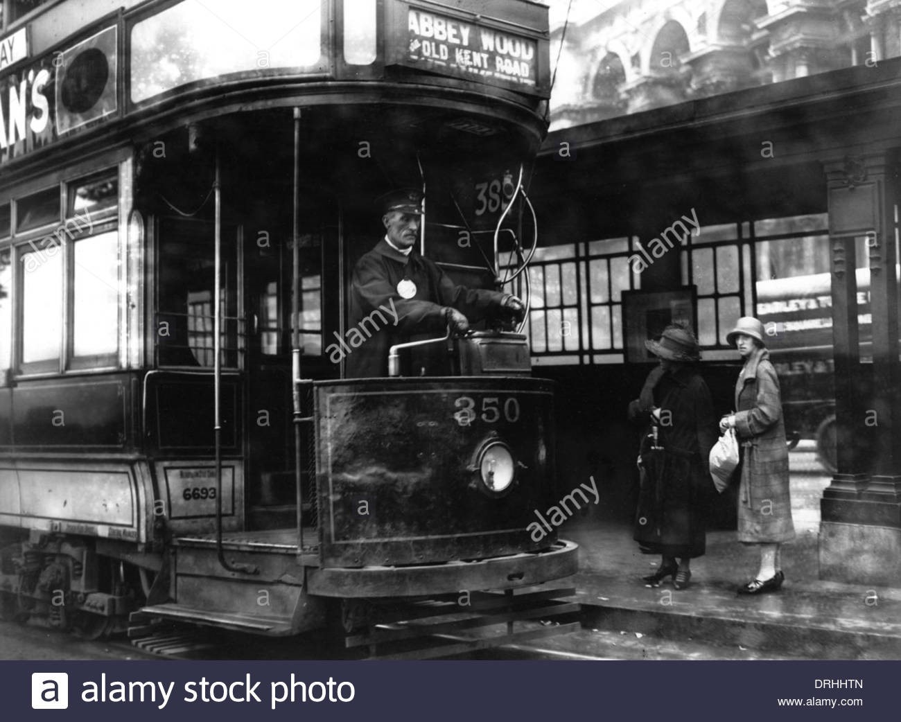 A tram outside Blackfriars tram terminal in London.jpg