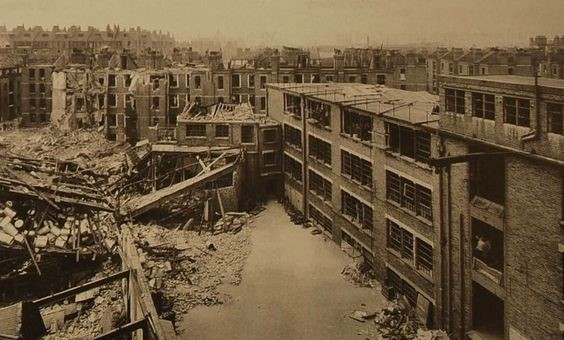 The Grange Bermondsey Bomb Damage in 1941 WW2.jpg