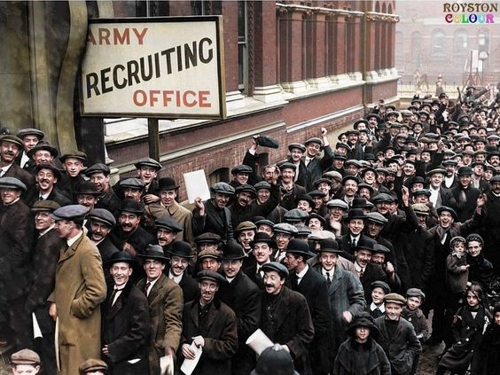 Wansey St, Elephant & Castle, Army Recruiting Office 1915 WW1.jpg